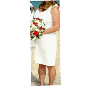WHBM Floral Neck Dress
